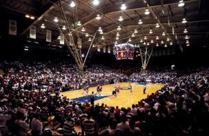 Cameron Indoor Stadium, home of the Blue Devils.