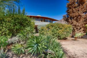 The southern edge of the Frank Lloyd Wright-designed house in Phoenix.