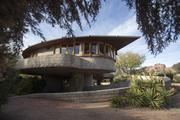 It was designed and built in the 1950s by Frank Lloyd Wright for his son, David, and wife, Gladys.