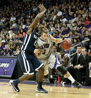 Brad Carroll drives down the court during an exhibition game against The Master's College on Nov. 5 at GCU Arena.