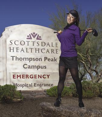 Former Arizona State University golfer Grace Park has pledged to donate winnings from LPGA Founders Cup to Scottsdale Healthcare Foundation, providing she makes the top 10.