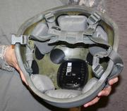 The BAE Systems HEADS sensor is mounted inside most combat helmets, underneath the helmet suspension pads. It records and stores data related to head movements during blasts and explosions.