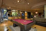 The home has a 55-foot game room equipped with a pool table.