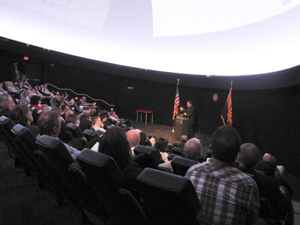 Plans for the first Arizona SciTech Festival were announced Friday at the Arizona Science Center.