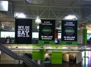Throughout Infusionsoft's Chandler office, the company posts its goals and accomplishments.