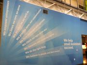 This wall in Infusionsoft's office shows the company's tenets.
