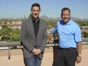 Morgan Ringwald, left, and Jeff Golner