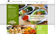 """An """"after"""" picture of the website of Malee's Thai Bistro in Scottsdale, which used Locu."""