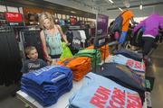 Chandler resident Nicki Connelly stopped by the Nike store at Phoenix Premium Outlets to shop with her son, Patrick, 4.