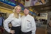 Patricia and Bob Bondurant, owners of Chandler-based Bondurant School of High Performance Driving, stopped by Phoenix Premium Outlets to check out the the new shopping center.