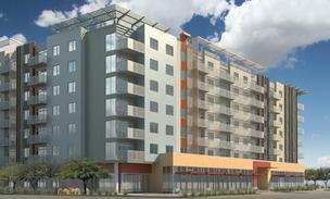 A rendering of the north side of the Roosevelt Point development in downtown Phoenix.