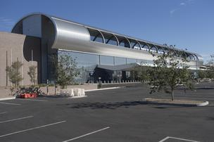 The Phoenix Sky Train station at 44th and Washington streets is scheduled to open early next year.