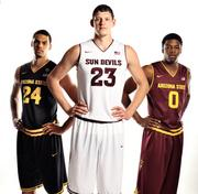 ASU's new men's basketball uniforms.