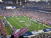 The New York Giants beat the New England Patriots in Super Bowl XLII at University of Phoenix Stadium.