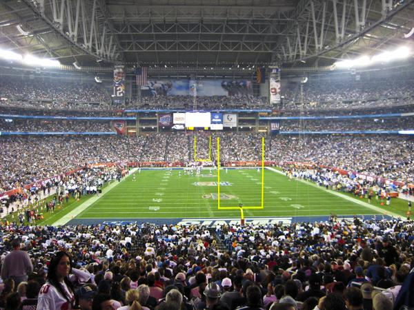 University of Phoenix Stadium last hosted a Super Bowl in 2008.