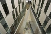 """The """"canyon"""" inside the building as seen from the fifth floor."""