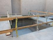 A space for one of the aquatic facilities the Cubs will have in their clubhouse. The pools are so big they need to be craned in from above.