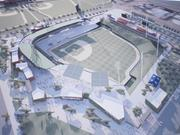 A rendering of the Cubs stadium, which will hold 15,000 fans when finished.