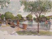A rendering showing a view of the lake.
