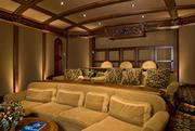 Another view of the home theater.