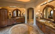 One of eight bathrooms inside the home.