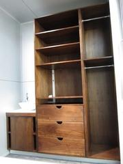 Shelving and storage in the Mod Box.