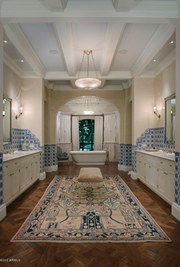 An opulent bathroom within the home.