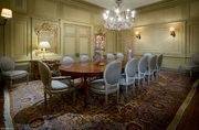 A dining room in the home, which is 16,100 square feet in all.