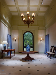 The foyer of the home, which was first listed in late 2010 for $32 million.