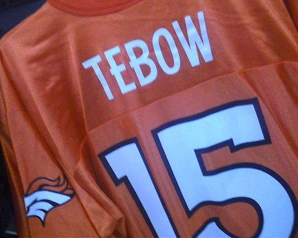Tim Tebow jerseys like this are hard to come across at Phoenix retailers.