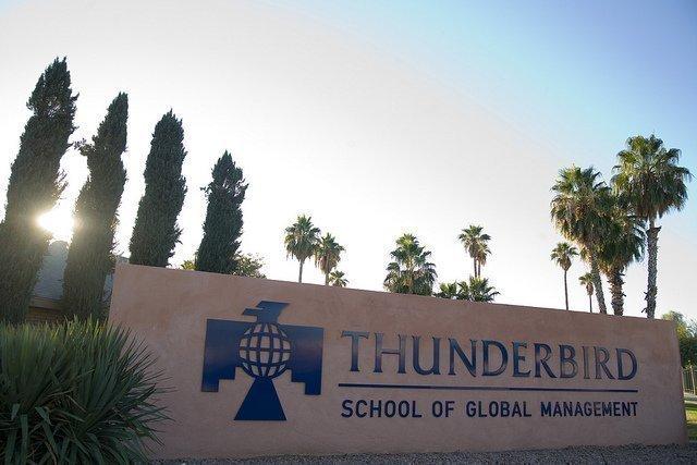 The Thunderbird School of Global Management in Glendale.