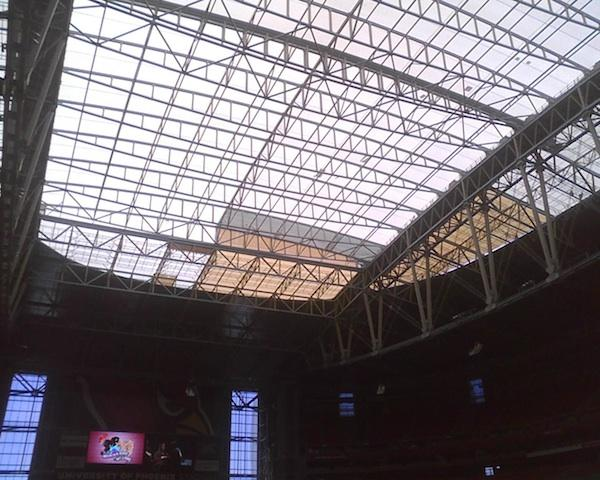 The roof from inside University of Phoenix Stadium.