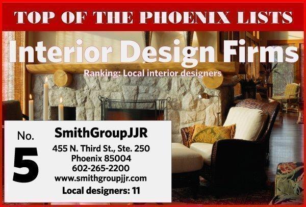 The Top 48 Interior Design Firms In Phoenix Phoenix Business Journal Delectable Phoenix Interior Designers Design