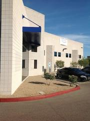 The exterior of Wilhelm Automotive's first franchised shop at the Scottsdale Airpark.