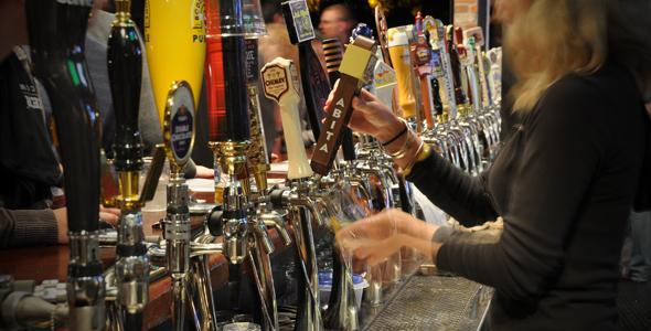 The new World of Beer in Tempe offers more than 500 different different brews. It has 58 beers on tap.
