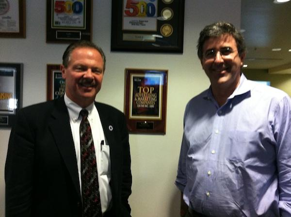 Scottsdale Mayor Jim Lane (left) and Yodle CEO Court Cunningham.