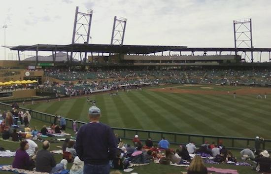 The Arizona Diamondbacks moved the team's spring training from Tucson to the Cactus League's newest facility, Salt River Fields in Scottsdale.