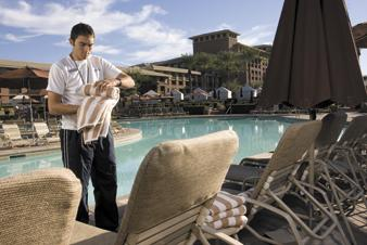 Ken Kriske is a pool attendant at Westin Kierland Resort & Spa in Scottsdale. Kriske is attending Scottsdale Community College with the resort's assistance to study hotel and restaurant management.