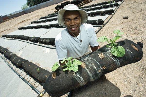 Miguel Jardine founded VermiSoks LLC to help develop urban gardens across the Valley.