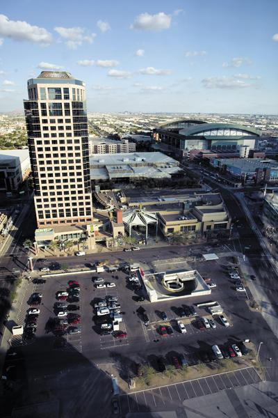 Owners of the Collier Center in downtown Phoenix want to develop a 400,000-square-foot office project on the undeveloped parking lot just north of US Airways Center.