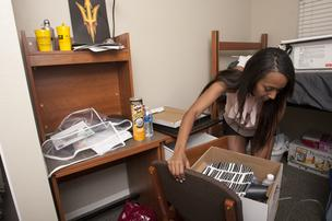 Arizona State University freshman Ayshia Groll moved into the Barrett Honors College dorm last August. It was built by hardison/downey construction inc. in 2009.