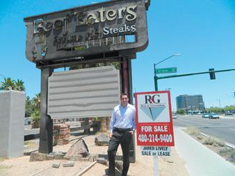 Jared Lively, senior associate with Rein & Grossoehme Commercial Real Estate, has obtained the exclusive listing on the property where Beef Eaters restaurant was.