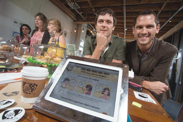 Brothers Paul, left, and Arthur Kenjora created TabHere, a new type of customer loyalty program for small businesses.