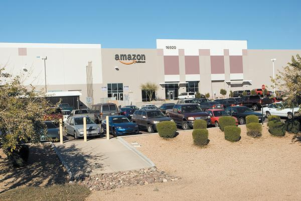 One of Amazon's two west Phoenix facilities. The company is expected to hire hundreds in the Phoenix area as part of a nationwide hiring spree.