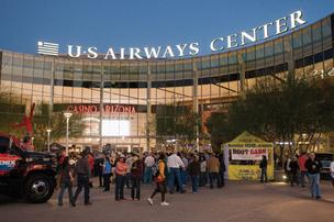 The US Airways Center in downtown Phoenix, which was formally America West Arena, will get a new name again as the US Airways name disappears as part of the American Airlines merger.