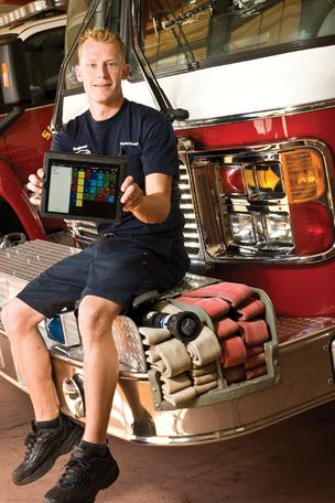 Sun Lakes Firefighter David DeGraaf and two colleagues developed a smartphone app to deal with their schedules.