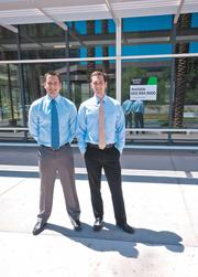 Cassidy Turley BRE Commercial's Sean Spellman, right, and Chris Hollenbeck have faced a rough road working as brokers during the recession.