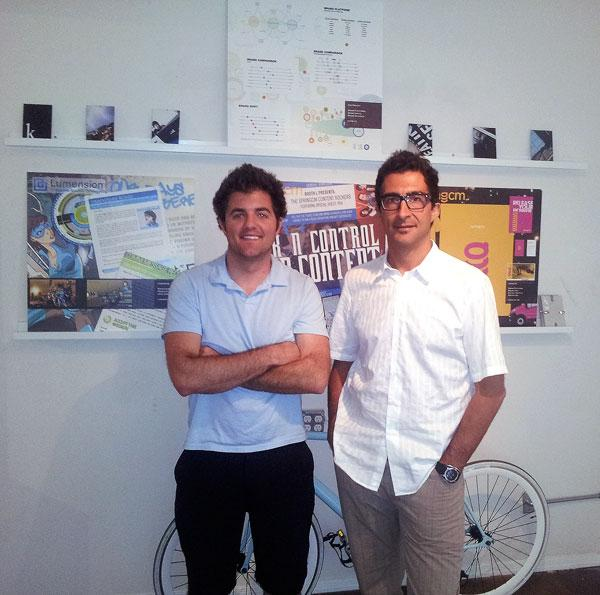 Russell Perry, left, and Federico Soto Roland