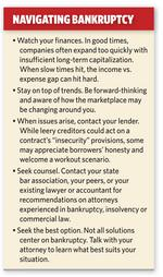 When facing business bankruptcy, act early to allow flexibility