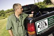 Dr. Anthony Gilchrist makes house calls as a mobile veterinarian.